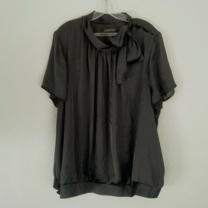 Lane Bryant | Black neck tie blouse 22/24